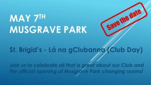 Save the Date: Lá na gClubanna (Club Day) May 7th