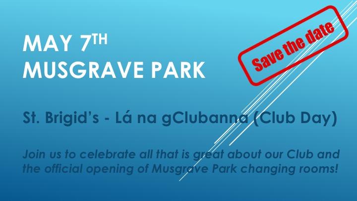 Save the Date: Lá na gClubanna (Club Day) May 7th