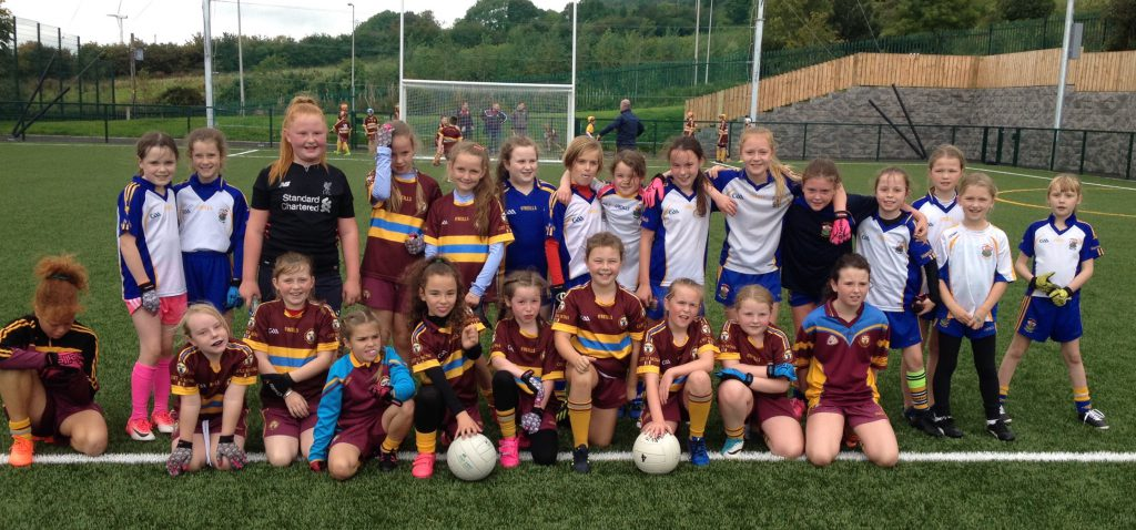 U10 Girls Football Attend Opening of Pitch at Gort Na Mona