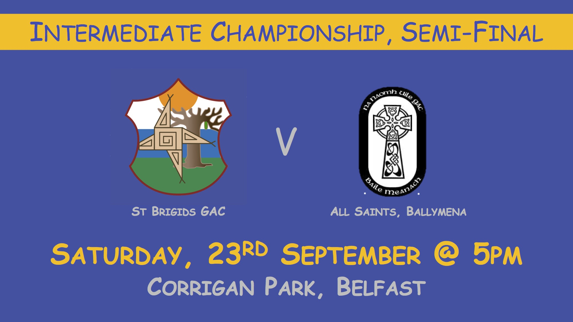 Intermediate Championship Semi-Final, Saturday 23rd