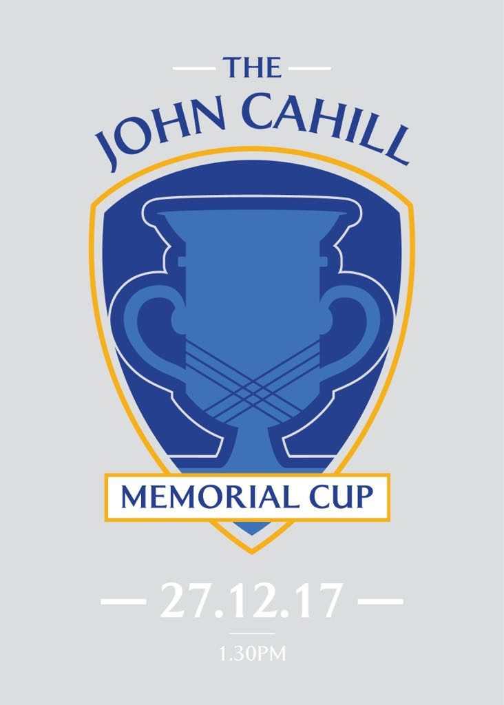 Calling All Ladies And Mens Past And Current Players: John Cahill Cup 2017