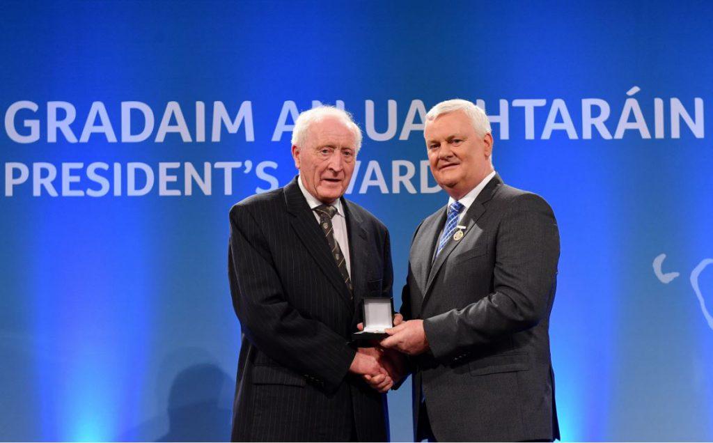 Friend Of St Brigid's Seamus O'Hare Collects Prestigious GAA Volunteer Award