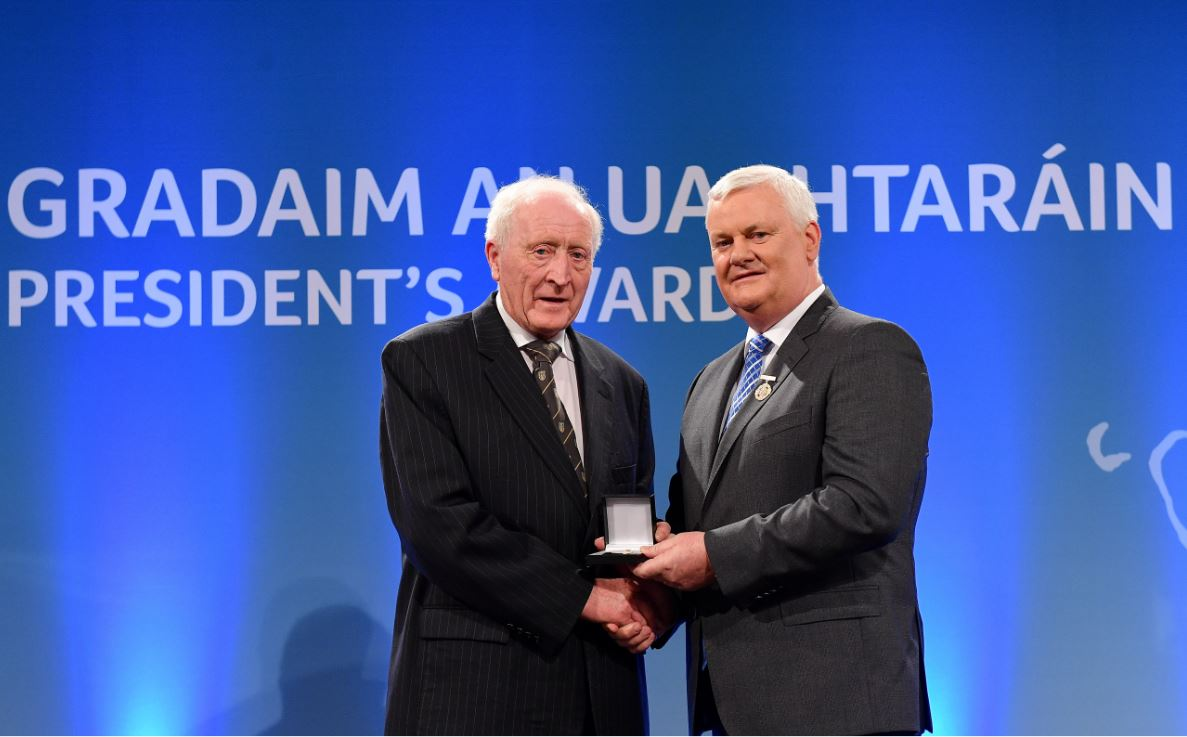 Friend Of St Brigid's Seamus O'Hare Collects Prestigious GAA Volunteer Award