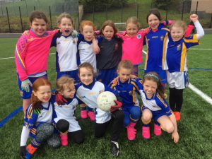 Girls U8 footballers Blitz