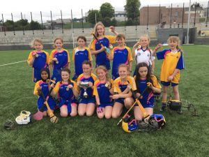 St Bride's PS Camogs Lift First Ever Cumann na mBunscol Title