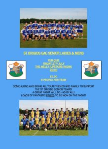 Table Quiz In Support Of Our Senior Teams: All Welcome!!