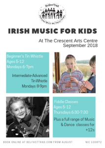 Opportunities To Learn Traditional Irish Music With Belfast Trad