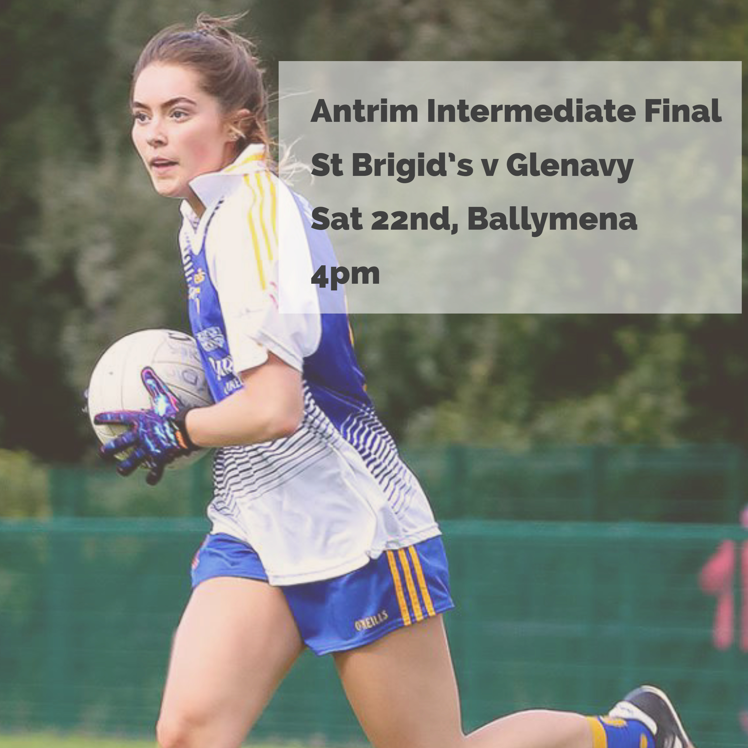 St Brigid's Senior Ladies In County Final THIS SATURDAY!