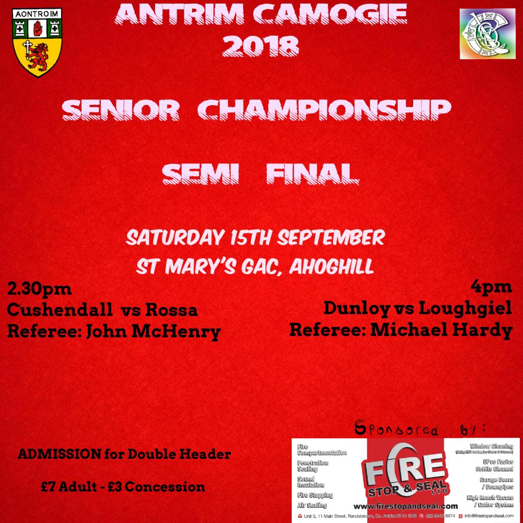 Antrim Camogie Championship Semi-Finals This Weekend