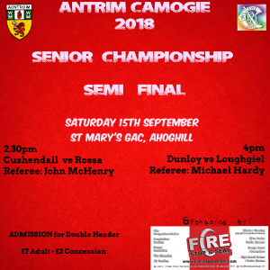 Antrim Camogie Championship Semi-Finals This Weekend