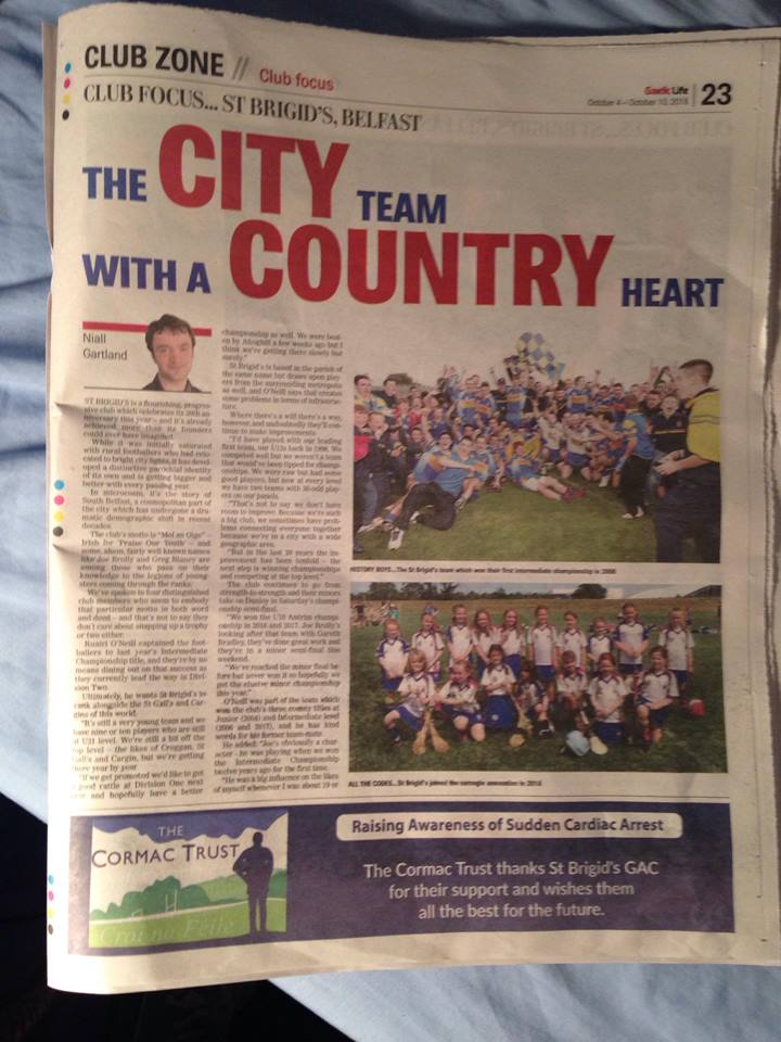 Three-Page Spread On The Club In Today's Gaelic Life!