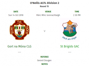 Senior Men In League Decider Away To Gort This Weekend!