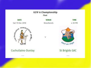 U21s In COUNTY FINAL This Saturday @ Woodlands