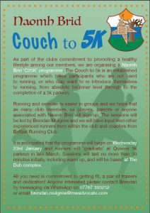 St Brigid's Couch To 5k: Improve Your Fitness In A Fun And Supportive Environment